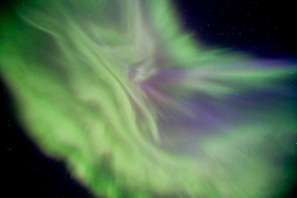 Corona. Stjerner. Viser det magiske nordlyset og en flott corona med klare stjerner