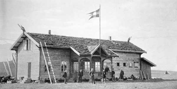 Hotellet på Hotellneset på Svalbard i 1896