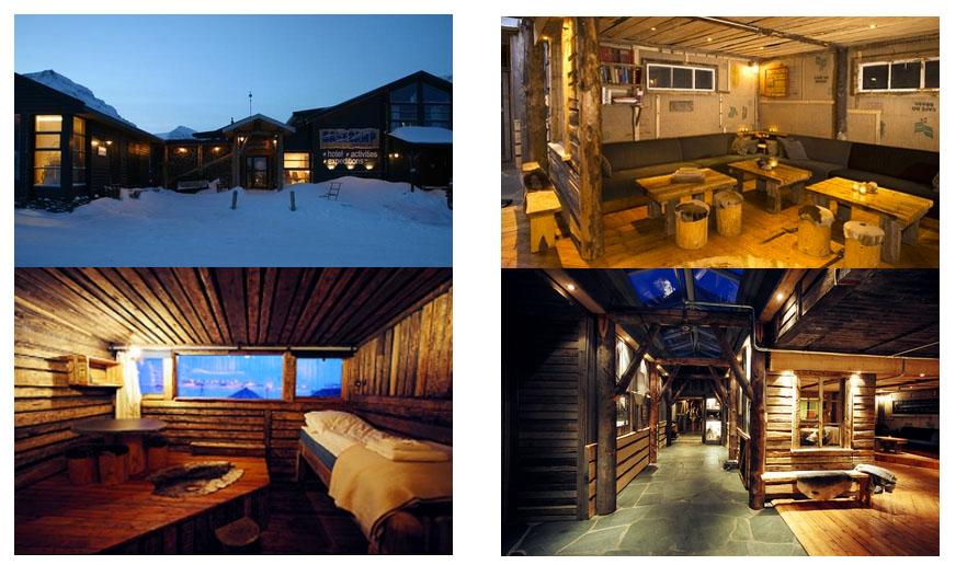 Basecamp Fangstmannshotellet ligger i sentrum av Longyearbyen, Svakbard. De tilbyr rimelig ivernatting i forbundelsen med festivalen Dark Season Blues.