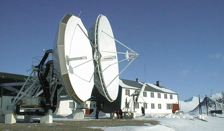 Telenors fjernstasjon på Svalbard. Isfjord Radio