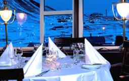 Funktionærmessen Restaurant ligger i Spitbergen Hotel, Funken, rett ovenfor sentrum av Longyearbyen på Svalbard