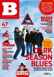 Dark Season Blues på forsiden av magasinet Bluesnews