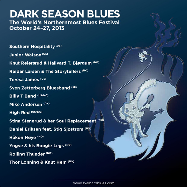 Dark Season Blues 2013 i Longyearbyen på Svalbard