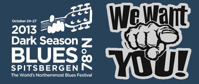 Dark Season Blues 2013 trenger flere frivillige til å hjelpe til under festivalen.