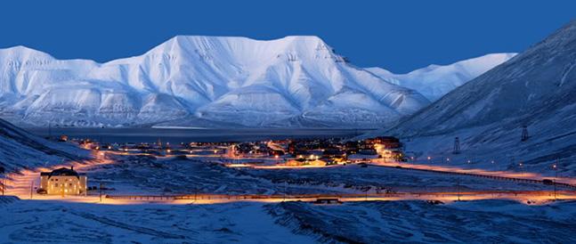 Longyearbyen i mørketiden