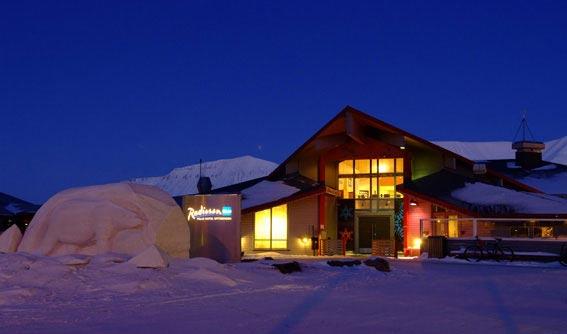 Reise og overnattingstilbud til Svalbard, Spitsbergen. Hotel Radisson Blu.