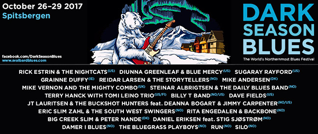 Artister som opptrer under årets festival på Svalbard